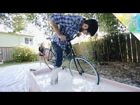 biking - THANK YOU FOR SHARING!* Because we love you for that, watch Tara shoot Anthony: http://testtube.com/hardscienceextras/non-newtonian-fluid-bsides?utm_source=...
