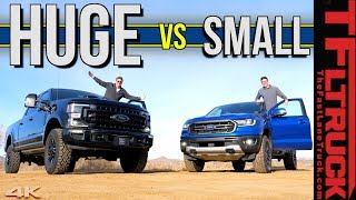 Does Size Really Matter?  We Compare The New 2020 Ford F-250 Tremor to The Ford Ranger FX4 Pickup! by The Fast Lane Truck