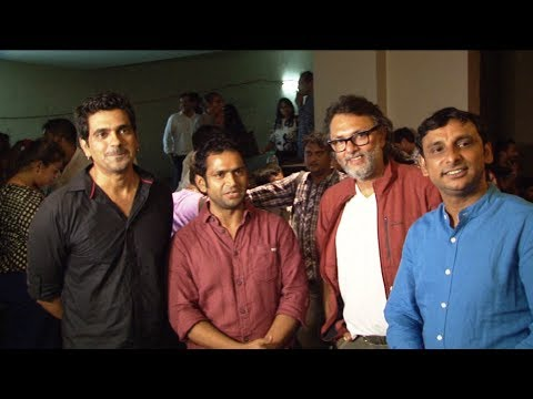 Rakeysh OmPrakah Mehra, Sharman Joshi,Ayushmaan Khurrana At Screening Of Film 'Filmistaan'