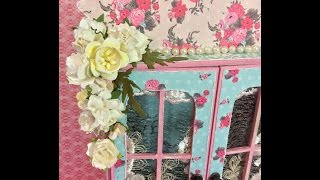 Hello Crafty peeps!! Yes another project, lol. But if you love Shabby chic then you will love this Amoire from Sacrafters. Thank you Sa for sending me some yummies and asking me to be a guest designer!If you would like to purchase this Fancy Box #`1 i will have the link in the comments.