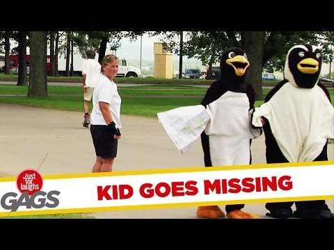 Kid Hides in a Halloween Penguin Suit Trick! - Youtube
