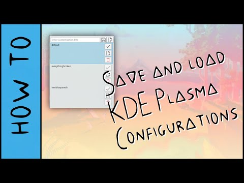 Save and Load KDE Plasma Configurations with This Applet