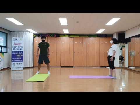 8월 비대면 체육지도영상 - 유산소 타바타 1탄 (김기웅, 하수정 지도자)