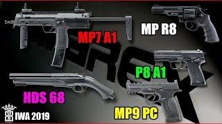 IWA 2019 - Airsoft VFC Umarex S&W M&P9, HK P8A1, MP7A1, M&P R8, HDS 68