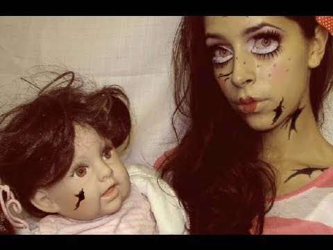 Halloween Makeup Cute Broken Doll