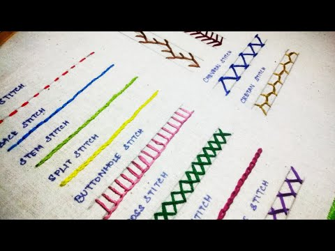 15 Basic Hand Embroidery Stitches Sampler for Absolute Beginners