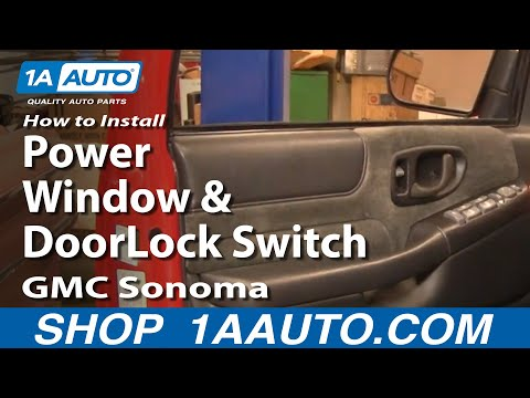 How To Install Replace Power Window and Door Lock Switch GMC Sonoma 01-04 1AAuto.com