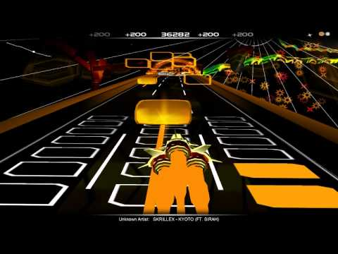 Audiosurf - SKRILLEX KYOTO (FT. SIRAH) (видео)