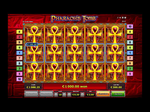 Pharaoh's Tomb Slot  - The Perfect Bonus Round! - Over 1000x Stake Win!