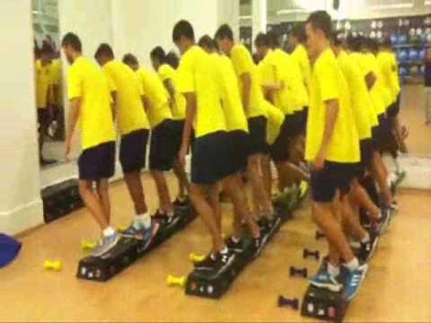 אימון קבוצתי מחלקת נוער מכבי תל אביב