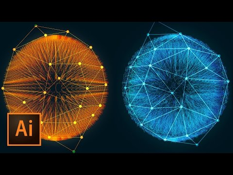Incredible 3D Dots and Lines Glowing Fiber Effect in Illustrator