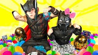 Video Heroes & Villains! Black Panther and Avengers Surprise Eggs Game for Kids! MP3, 3GP, MP4, WEBM, AVI, FLV Juni 2018
