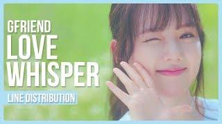 Video GFRIEND - Love Whisper Line Distribution (Color Coded) MP3, 3GP, MP4, WEBM, AVI, FLV Maret 2018