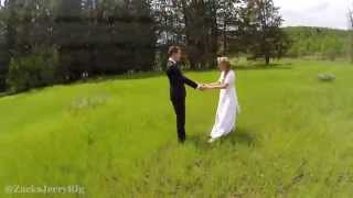 Beautiful Aerial Wedding Photography