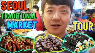 Video Korean TRADITIONAL Market Street Food Tour in Seoul MP3, 3GP, MP4, WEBM, AVI, FLV April 2019