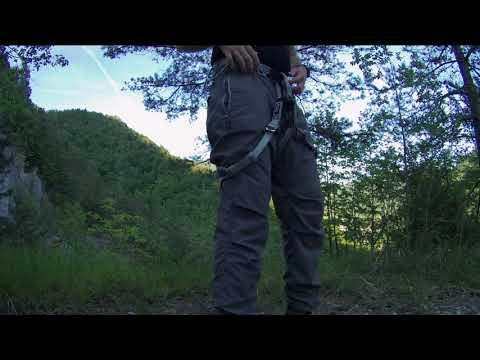 How to put on via ferrata equipment - climbing harness and via ferrata set
