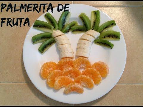 Palmera de frutas para niños