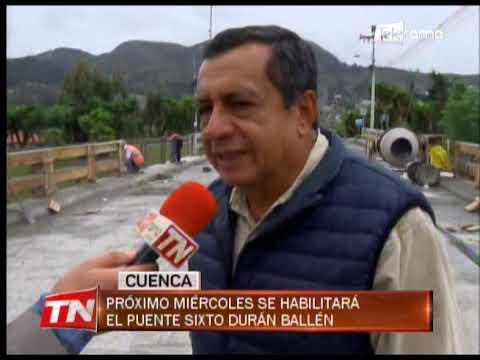 Próximo miércoles se habilitará el puente Sixto Durán Ballén