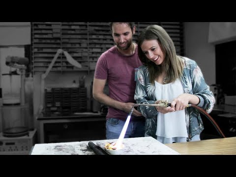Bride and Groom CRAFTING their WEDDING BANDS