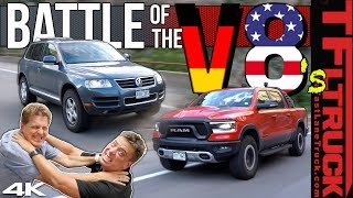 Ram Rebel vs VW Touareg 4x4 Worst MPG Battle: We Are Shocked By the Results | Ram Rebel Rouser Ep.6 by The Fast Lane Truck