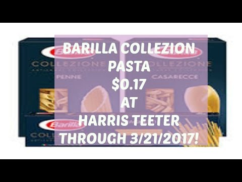 Barilla Collezione Pasta $.17 A Box At Harris Teeter!