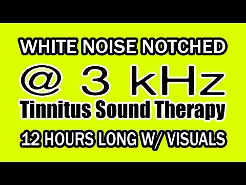 White Noise - Notch Filtered At 3 KHz For Tinnitus Therapy W/ Visuals