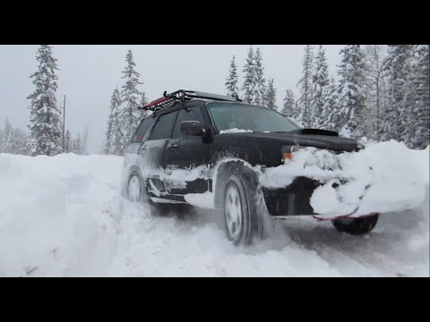 Subaru Forester Off Road - Snowbaruing February 2015 (видео)