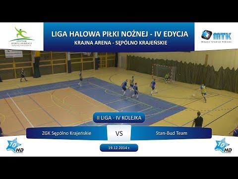 II Liga - IV Kolejka: ZGK Sępólno Krajeńskie - Stan-Bud Team 5:3, 19.12.2014 r.