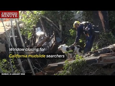 Rescue crews expand their search for five missing people as the death toll rises to 18 from mudslides in Southern California