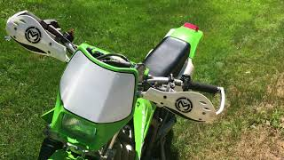 5. 2004 Kawasaki KDX 220R Start Up + Walk Around.