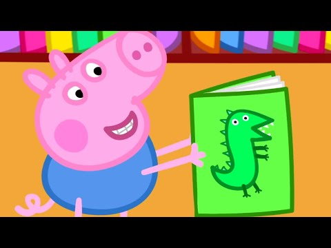 Peppa Pig English Episodes  Peppa Pig goes to the Library  Peppa Pig Official
