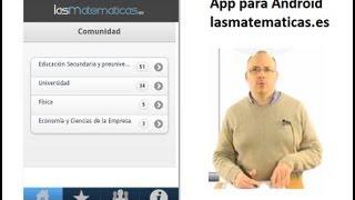 Video de Youtube de LasMatematicas.es