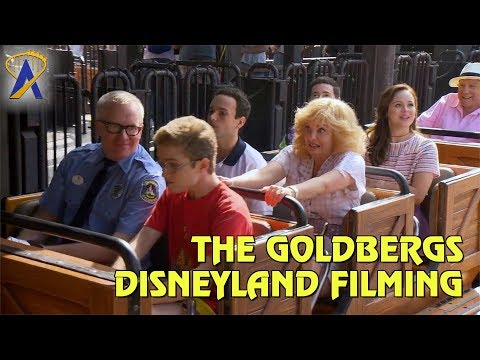 "Cast of ABC's ""The Goldbergs"" taping scenes for Vacation episode at Disneyland"