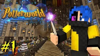 Welcome To Hogwarts, The School of Magic! - Potterworld (Minecraft Harry Potter Server) |Ep.1|