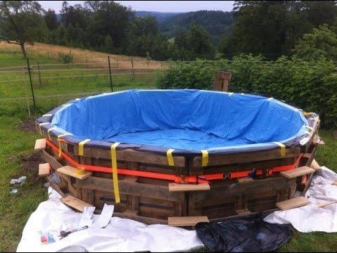 Cool Pool Selber Bauen Pool Selber Bauen Holz Pool Selber Bauen Einfach  With Poolleiter Selber Bauen