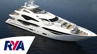 Video Sunseeker 131 Luxury Super Tri-Deck Yacht Boat Tour -  London Boat Show 2016 download in MP3, 3GP, MP4, WEBM, AVI, FLV January 2017