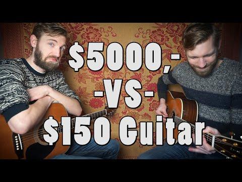 Kuuletko eron 5000$ ja 150$ kitaroissa?