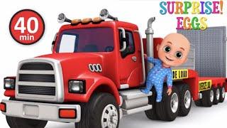 Video Car Loader Trucks for kids - Cars toys videos, police chase, fire truck - Surprise eggs  jugnu kids MP3, 3GP, MP4, WEBM, AVI, FLV Maret 2018