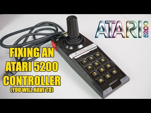 Atari 5200 controller repair Part 1 - fixing two common problems