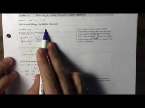 4.1 Solving Polynomial Equations