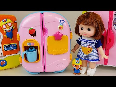 Baby doll Refrigerator and food toys baby Doli play