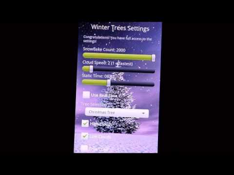 Video of Winter Trees Live Wallpaper