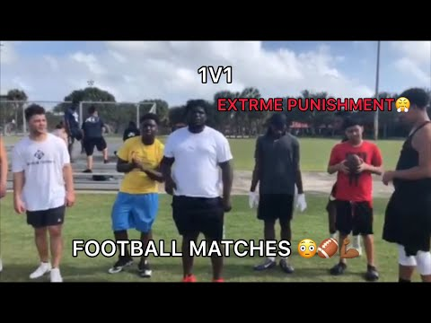 EXTRME 1v1 FOOTBALL MATCHES 😳🏈*COPS CALLED!*👮🏾♂️🚨