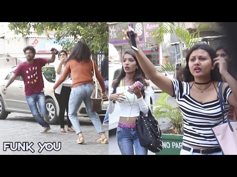 Stealing Girl's Phone Prank by Funk You (Pranks In India)