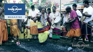 Walking on fire in Mauritius  - Lonely Planet travel videos
