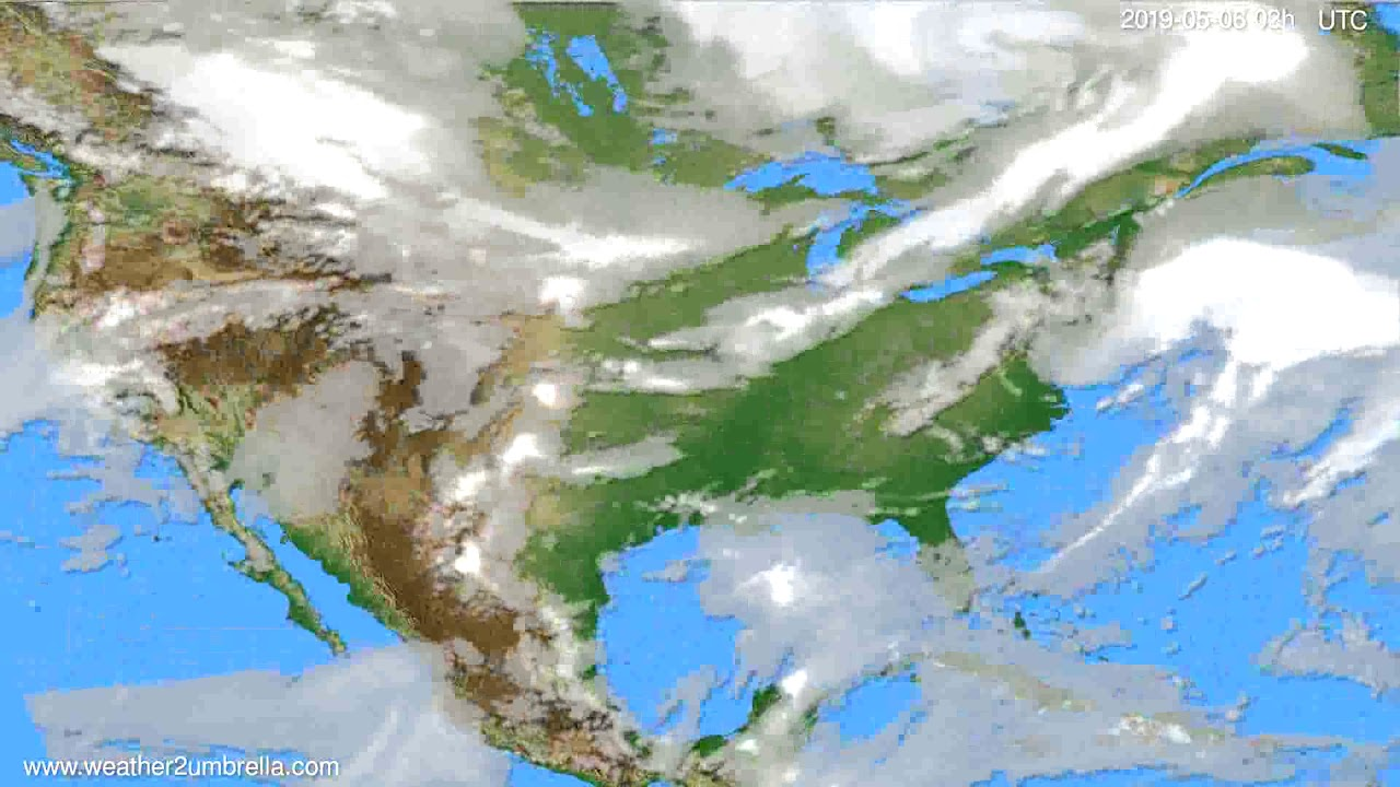 Cloud forecast USA & Canada // modelrun: 00h UTC 2019-05-03