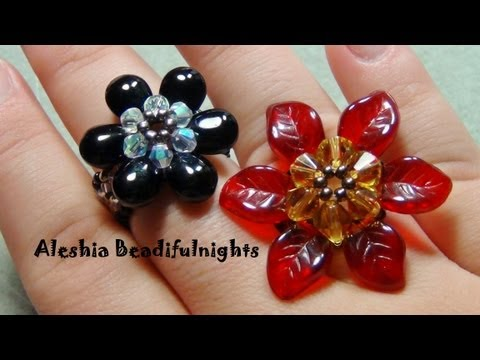 Briolette Flower Beaded Ring & Pendant Tutorial