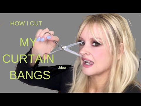 Hair cutting - HOW I CUT MY BARDOT BANGS  Curtain Bangs TUTORIAL  Clove & Hallow
