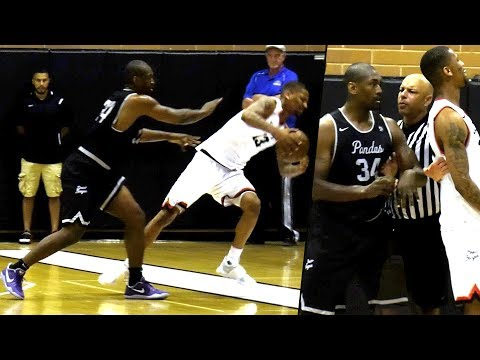 Metta World Peace Keeps Pushing Player For No Reason at Drew League