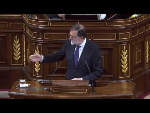 El presidente del Gobierno contesta a los grupos parlamentarios. Rajoy da la cara.